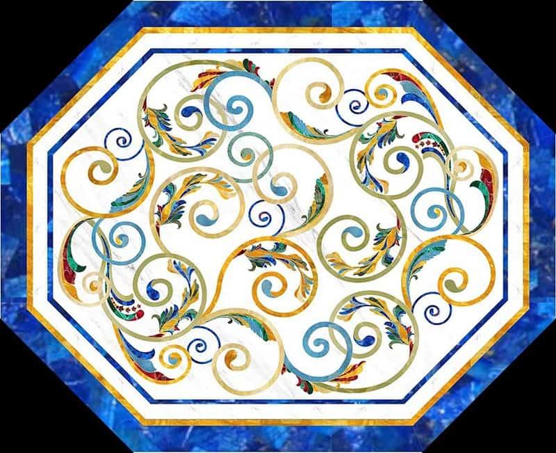 Bejeweled Floor Broach